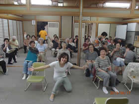 大阪市港区 老人憩いの家 自力運動療法 体験会