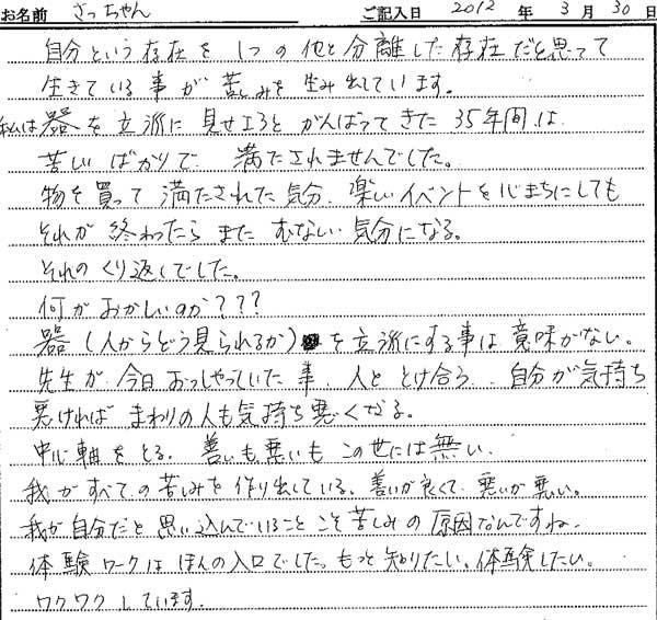 大阪府吹田市在住のさっちゃんの感想
